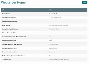 Webserver Home Airconwithme